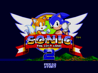 Screenshot Thumbnail / Media File 1 for Sonic the Hedgehog 2 (World) (Rev A) [Hack by Team Lost Land v2.0] (~Sonic - The Lost Land 2)
